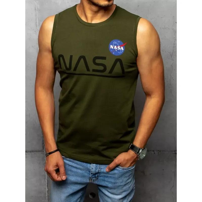 Pánský nátělník s potiskem zelený NASA