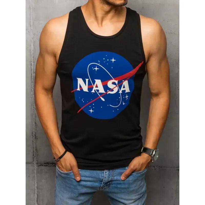Pánský nátělník s potiskem černý NASA LOGO