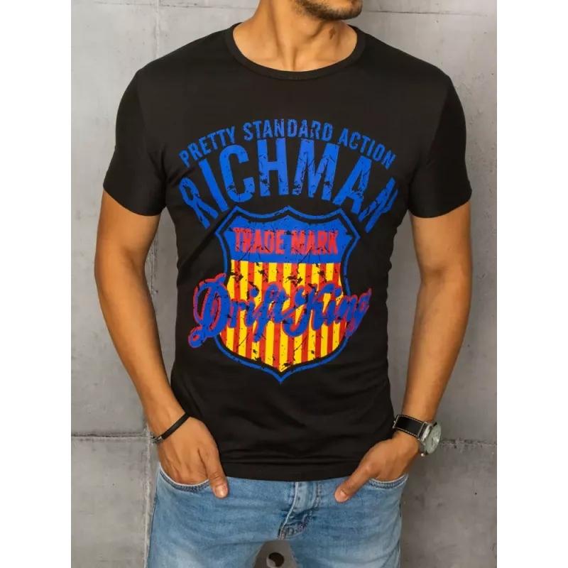 Pánské tričko s potiskem černé RICH
