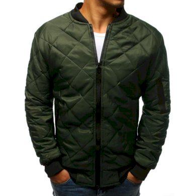 Pánská STYLE bunda prošívaná bomber jacket zelená