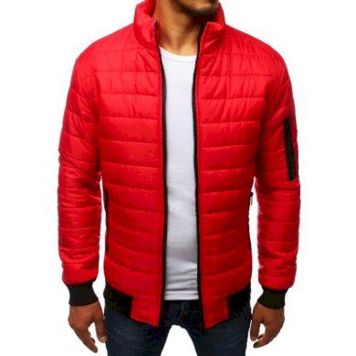 Pánská FALL bunda přechodová prošívaná červená