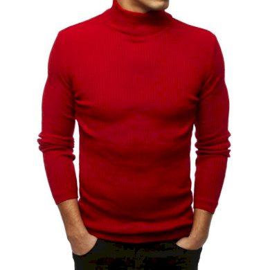 Pánský MODERN svetr rolák červený