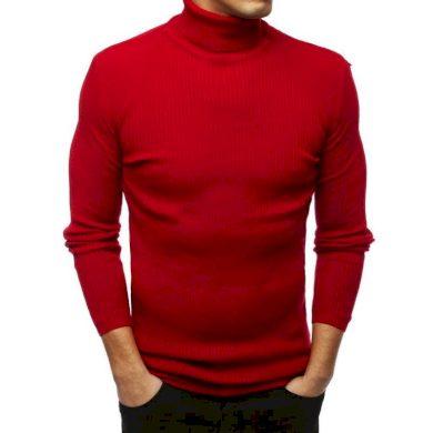 Pánský MODERN svetr golf červený