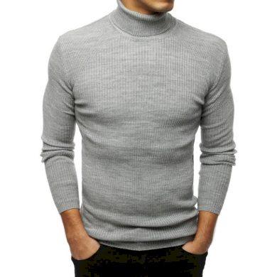 Pánský MODERN svetr golf světle šedý