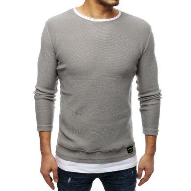 Pánský MODERN svetr světle šedý