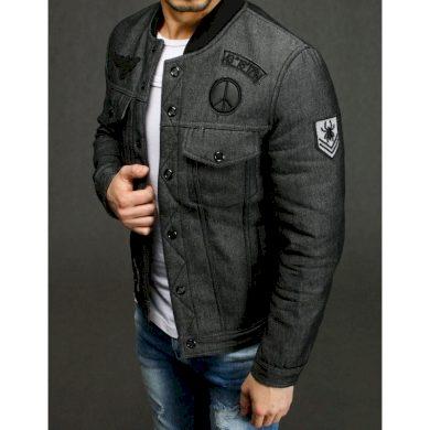Pánská MEN bunda jeansová šedá TX3231