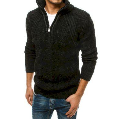 Pánský vlněný svetr černý wx1567