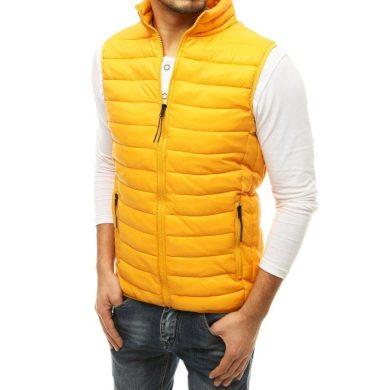 Pánská vesta prošívaná žlutá tx3575