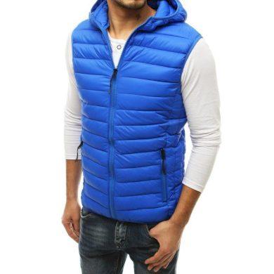 Pánská vesta prošívaná modrá tx3573