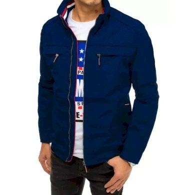 Pánská bunda přechodová tmavě modrá s kapsami