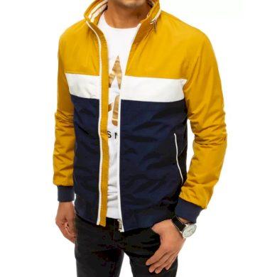 Pánská bunda přechodová žlutá SPRING