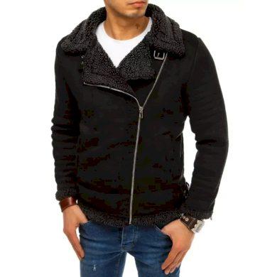 Pánská bunda se semišem černá STYLE