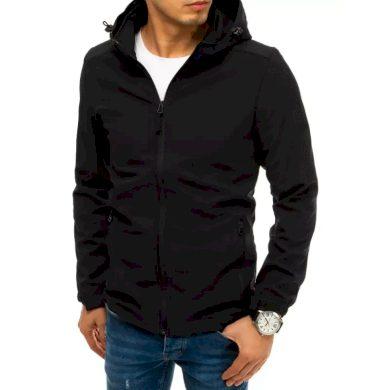 Pánská bunda softshell s kapucí černá SPORT