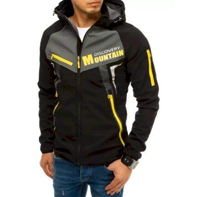 Pánská bunda softshell s kapucí černá MOUNTAIN