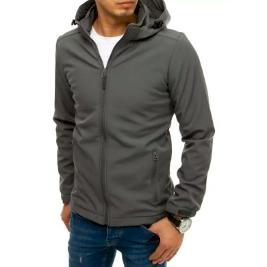Pánská bunda softshell s kapucí šedá SPORT