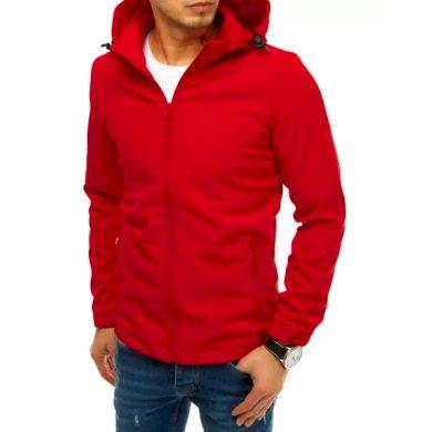 Pánská bunda softshell s kapucí červená SPORT