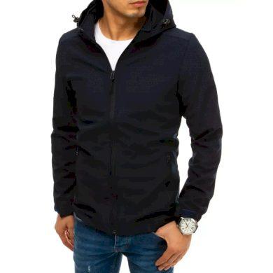 Pánská bunda softshell s kapucí modrá SPORT