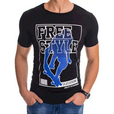 Pánské tričko s potiskem černé FREESTYLE