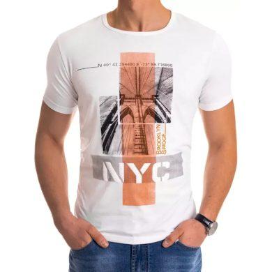 Pánské tričko s potiskem bílé NYC