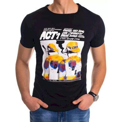Pánské tričko s potiskem černé ACT
