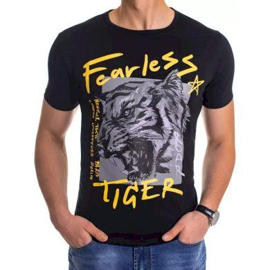 Pánské tričko s potiskem černé FEARLESS