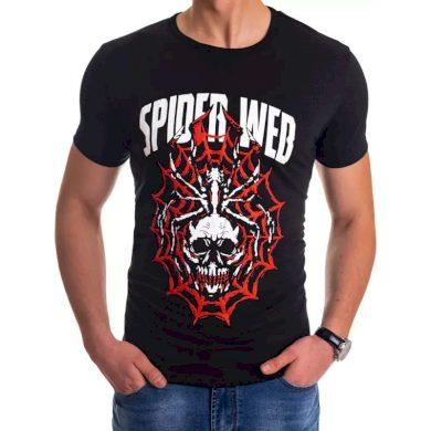 Pánské tričko s potiskem černé WEB