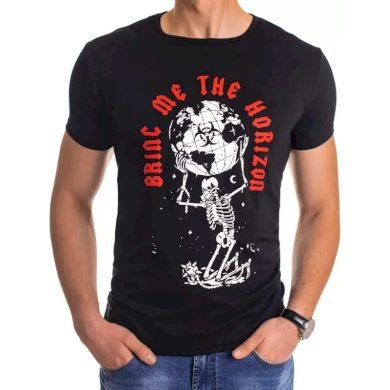 Pánské tričko s potiskem černé HORIZON