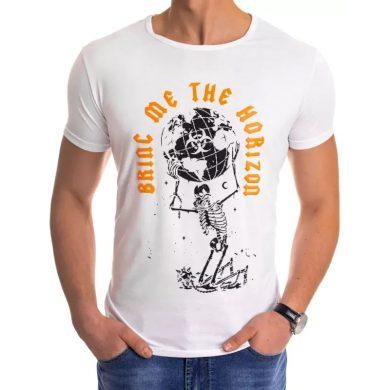 Pánské tričko s potiskem bílé HORIZON