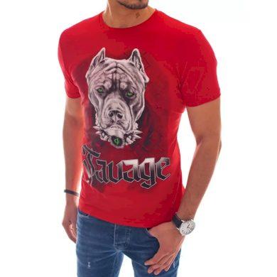 Pánské tričko s potiskem červené BULLDOG