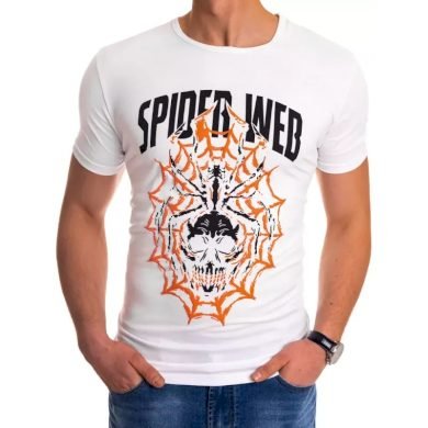Pánské tričko s potiskem bílé WEB