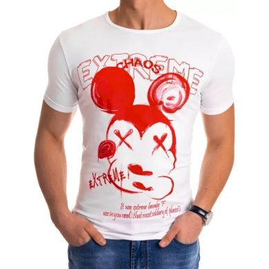 Pánské tričko s potiskem bílé MICKY