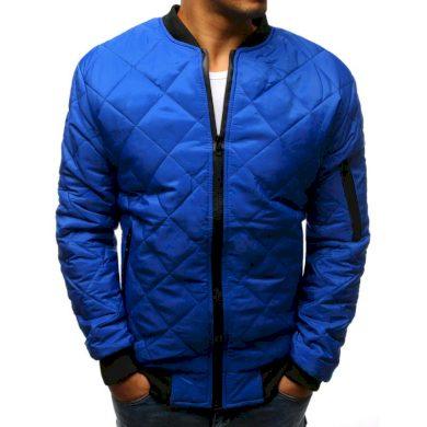 Pánská STYLE bunda prošívaná bomber jacket modrá