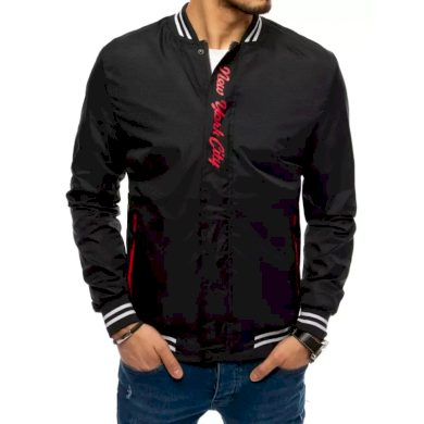 Pánská jarní bunda s potiskem černá NY