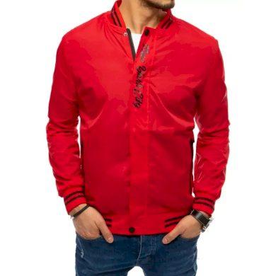 Pánská jarní bunda s potiskem červená NY