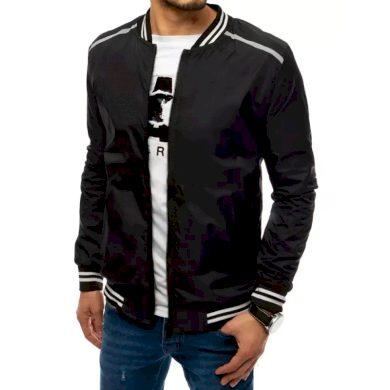 Pánská jarní bunda černá STRIPES