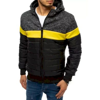 Pánská jarní bunda s kapucí černá HOOD