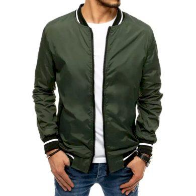 Pánská jarní bunda na zip zelená START