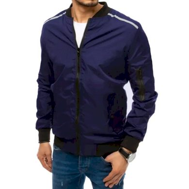 Pánská jarní bunda na zip modrá SLEEVE