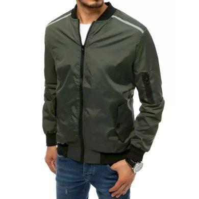 Pánská jarní bunda na zip zelená SLEEVE