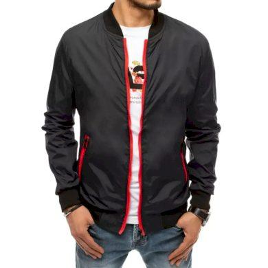 Pánská jarní bunda na zip černá STORM