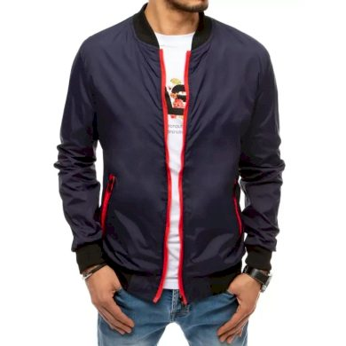 Pánská jarní bunda na zip modrá STORM