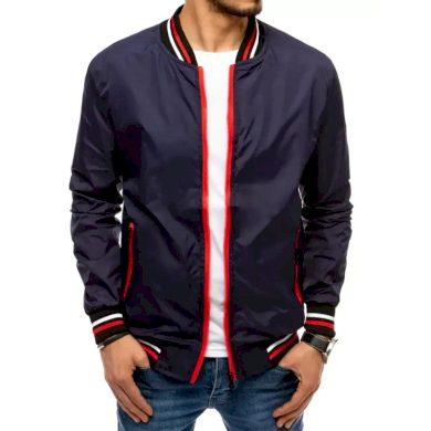 Pánská jarní bunda na zip modrá START