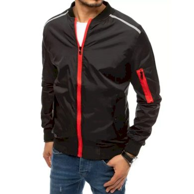 Pánská jarní bunda na zip černá SLEEVE