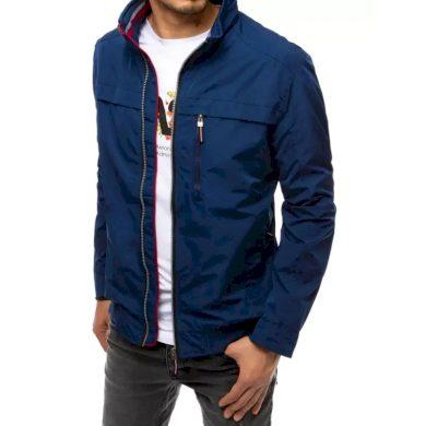 Pánská bunda na zip modrá ELEGANT