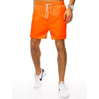 Pánské plavky bez potisku oranžové