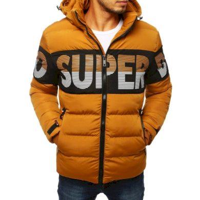 Pánská FALL / WINTER bunda prošívaná s kapucí hnědá
