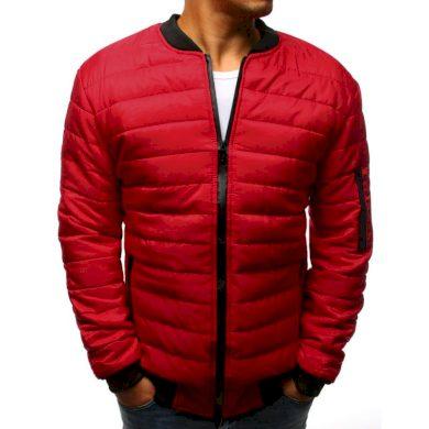 Pánská STYLE bunda prošívaná bomber jacket červená