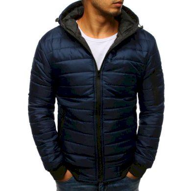 Pánská STYLE bunda prošívaná bomber jacket tmavě modrá