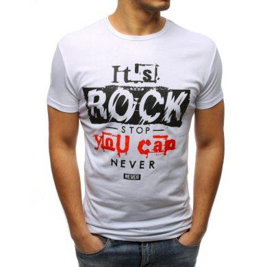Pánské stylové tričko s potiskem bílý