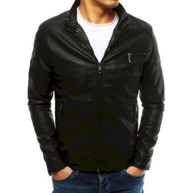 Pánská bunda koženka černá
